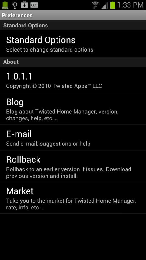Twisted Home Manager App Screenshots 3