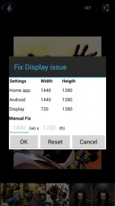 Fix Display issue dialog